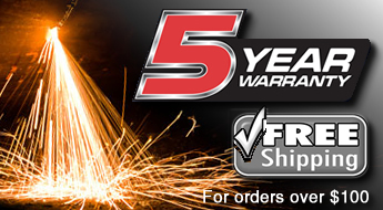 5 year warranty on selected welding machines, check description for warranty period