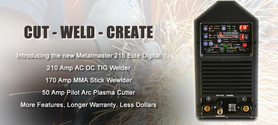metalmaster 215 elite multi-process welder plasma cutter