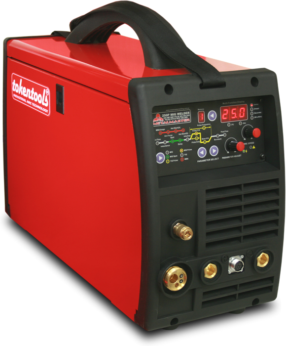 Metalmaster 250P pulse mig welder by Tokentools P/L Australia