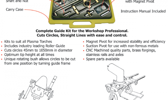 Plasma cutter circle cutting guide kit
